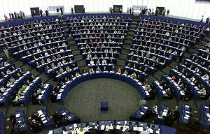 Imagen de archivo del hemiciclo del Parlamento Europeo en Estrasburgo. (Foto: Reuters)