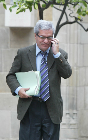 El consejero de Interior de la Generalitat, Joan Saura. (Foto: Domènec Umbert)