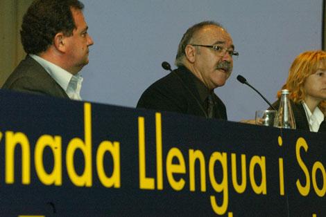 Carod, en un acto reciente por las lenguas. | Antonio Moreno