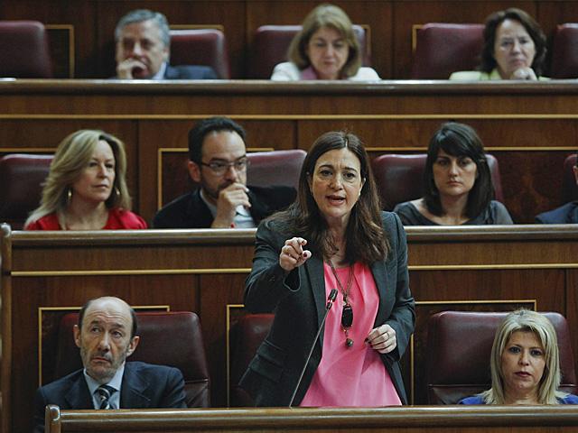 La portavoz del PSOE en el Congreso, Soraya Rodríguez. | Emilio Naranjo / Efe